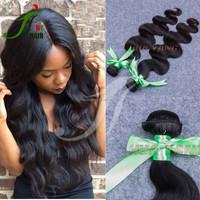 100 Human Hair Unprocessing Virgin Brazilian/Indian/Peruvian Human Hair Body Wave Hair Extension 100 Human Hair