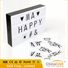 Home Decoration Lamp LED Slim Light Box A4 A5 A6 Size Cinematic Light Box With Letters