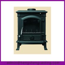 antique outdoor cast iron wood burning stove with oven
