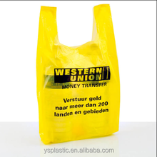 Wholesale Plastic Yellow Shopping Bag for Retail