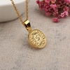 Fashion Gold Plated Dollar Coin Queen Elizabeth Round Pendant Necklace 18k Gold Jewelry Wholesale