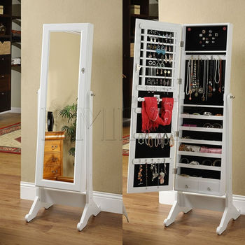 factory directly sale mirror jewelry cabinet in low price