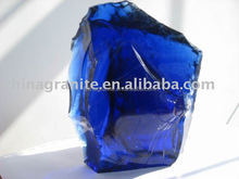 dark blue broken glass