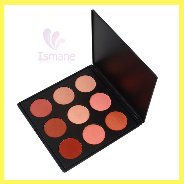 2017 Innovation 9 colors kiss beauty blusher palette waterproof pro makeup kit for facial blush