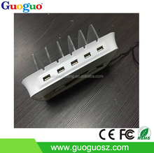 2015 New Products OEM Multifuanction Power Dock With 5 USB Output Ports 10A for iphone5, HTC,Samsung,Blackberry