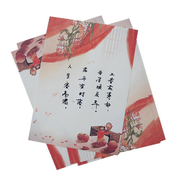 Professional Chinese accurate wholesale new design printing paper letter