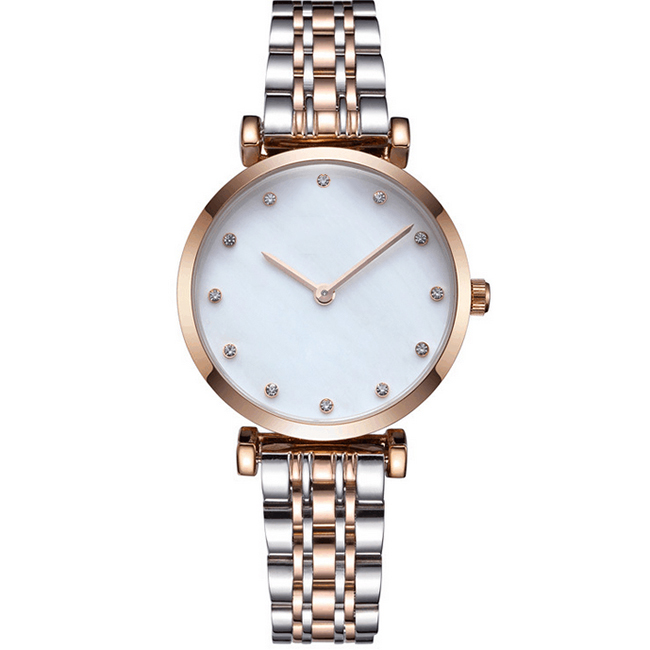 Stainless steel fashion vogue quartz watches for lady
