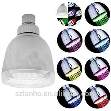 Romantic LED Automatic Colorful Gradient Glow Top Spray Shower Head 7 Colors
