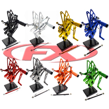 Motorcycle racing cnc technology billet cnc aluminum alloy T6061 anodized color rear footpegs for Yamaha