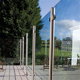 Modern Stainless Steel Round Post Glass Balustrade