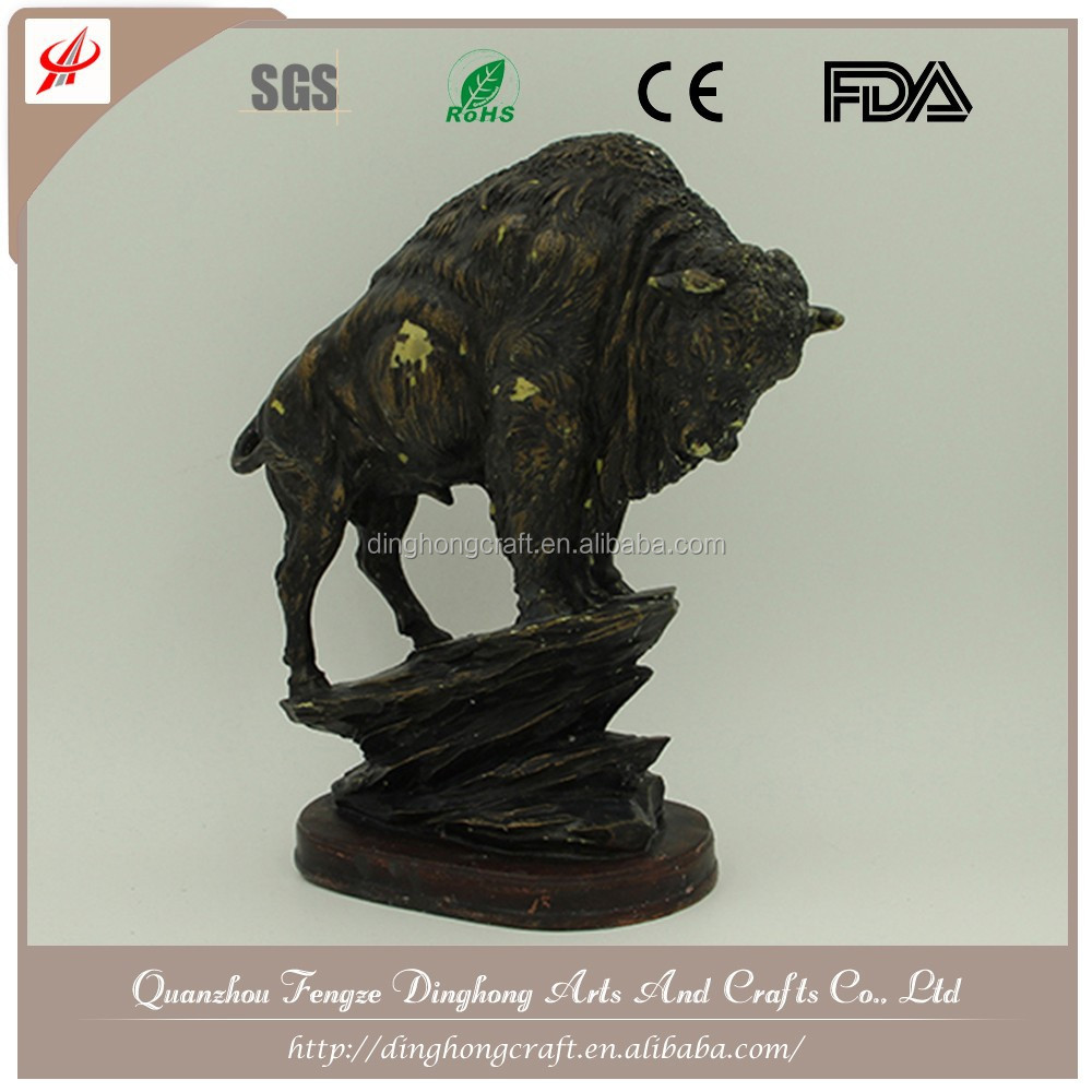 Wholesale Resin and Cross Religious Crafts Bronze Rhino Statue Bronze Elk Statue