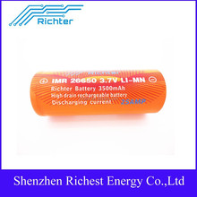 2015 Hot Sell!! Richter brand battery IMR 18650 3.7V 3500 mAh 25A rechargeable battery 186503.7V sigelei 150w battery