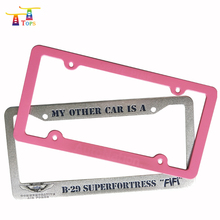 Promotional fashion plastic anime license plate frame for USA market