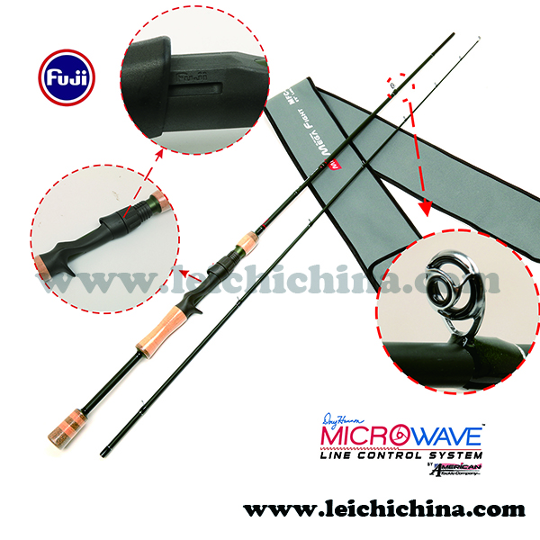 chinese high quality 2 section carbon shore jigging rod