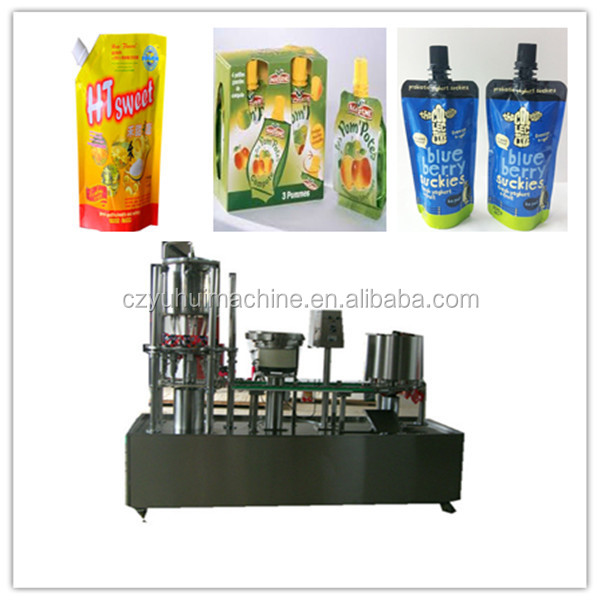 hot butter milk/lassi spout pouch filling and capping machine-YH