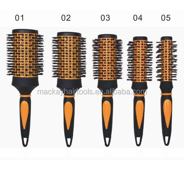 salon hair brush boar and nylon bristles