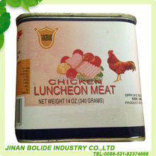 340g halal canned chicken meat luncheon meat