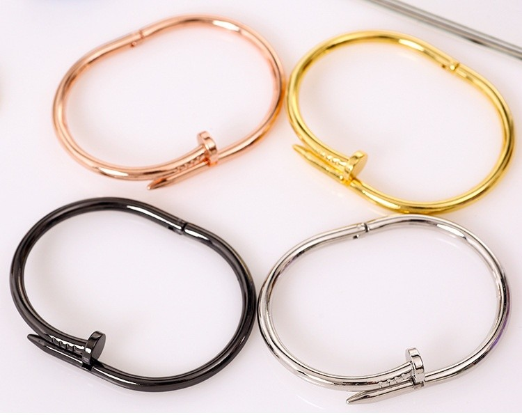 Best Selling Products Bending Nail Saudi Gold Jewelry Rose Gold Bangle