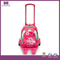 oem factory China kids china school trolley bag with wheels for girls