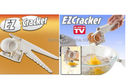 EZCracker Crack, Peel & Separate Eggs Perfectly. Good-Bye Shell Chips Handheld Egg Cracker/egg ez cracker/easy cracker