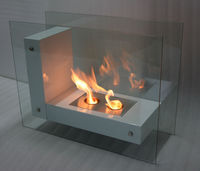 free standing glass fireplace ethanol fireplace