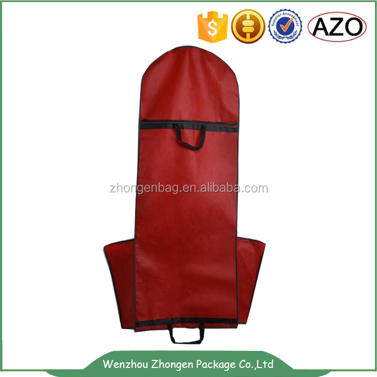 Wedding dress garment bag CHINA supplier,3 zipper foldable suit cover