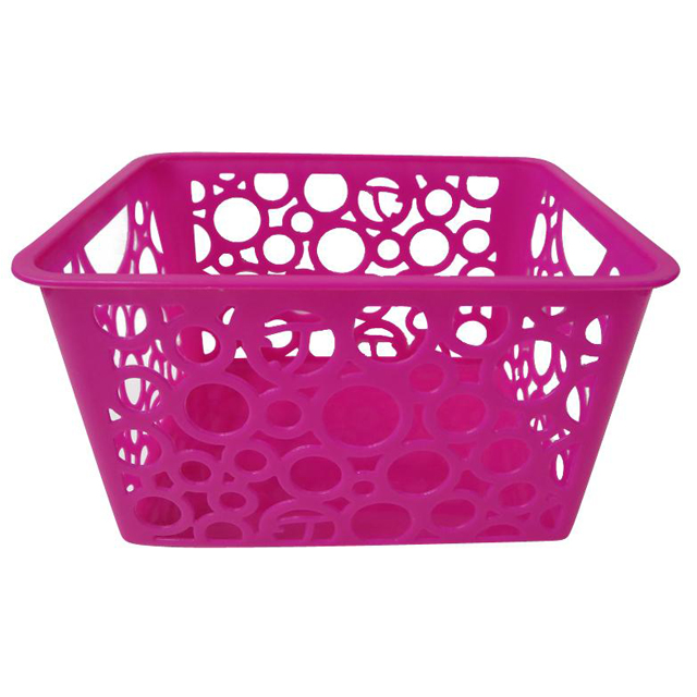 Vegetables plastic picnic basket with handle plastic baskets