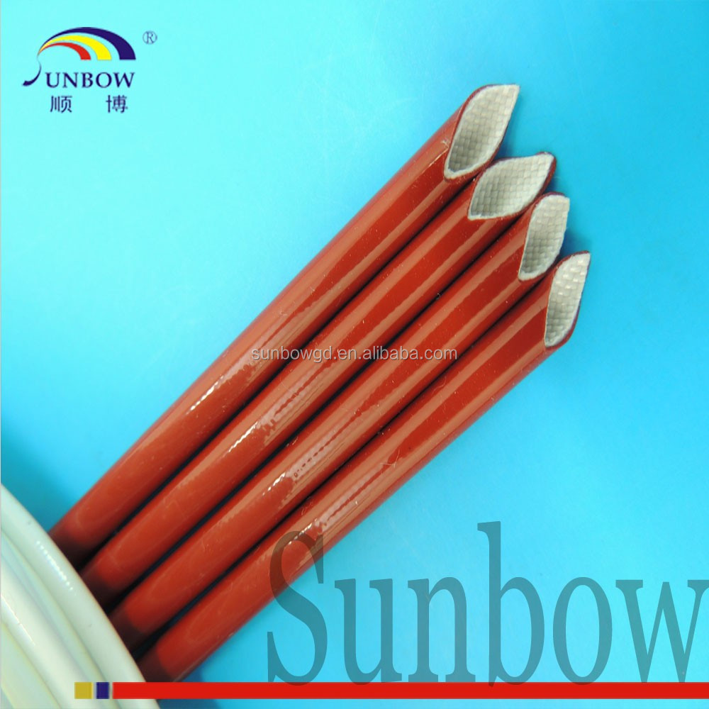 Silicone coated glass fiber thermal Brown wire insuation sleeving 7000V