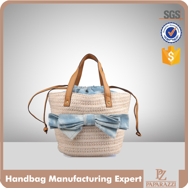 2488-2016 Bull Denim Woven Cotton Cities Bag with Strap Tote bag Hand bag