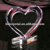 heart crystal award