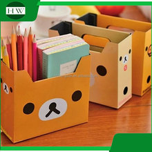 wholesale creative multipurpose cartoon desk sundries document file paper case bin container storage box
