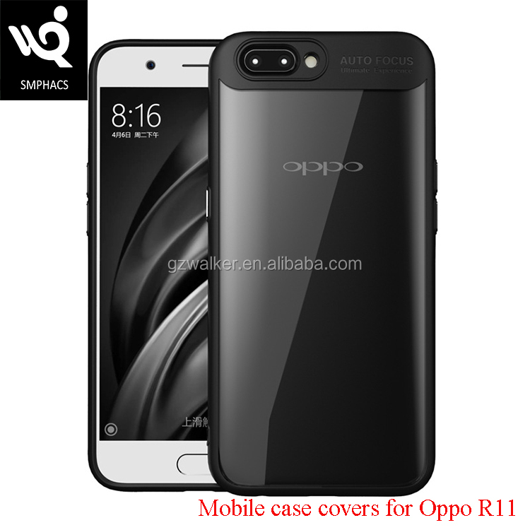 New Model Crashproof Hard Clear Acrylic Soft TPU Mobile Case Covers For Phone Cover Oppo R11