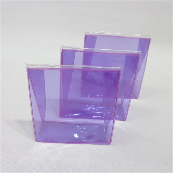 China factory wholesale clear multi-color waterproof recycled pvc plastic cosmetic bag