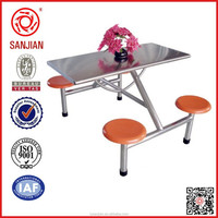 SJ-141 school canteen 4 seater used restaurant table and chair