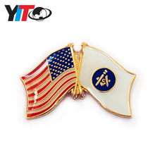 OEM Wholesale Practical Superior Quality National Flag pin badge
