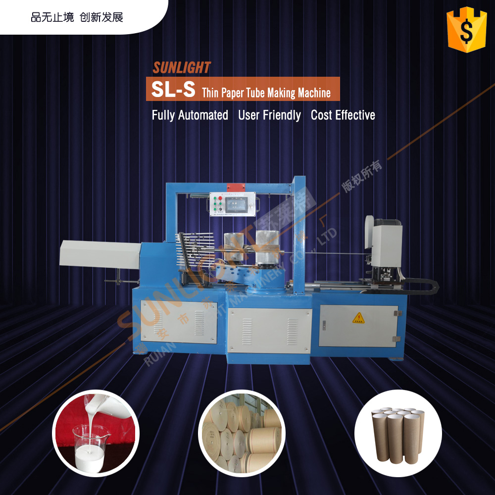 Automatic Toilet Paper Roll Core Rewinding Machine For Sale Kraft Paper Core Rolling Machine