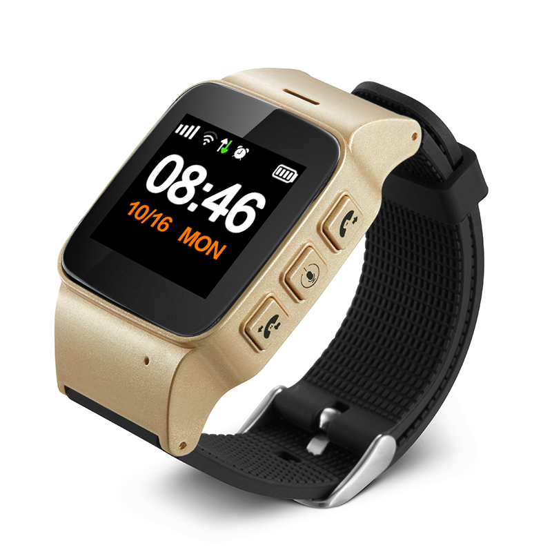 2018 Private D99 Plus 1.22 inch Wifi Positioning SOS Watch GPS Smart Tracker for Big Kids Old People