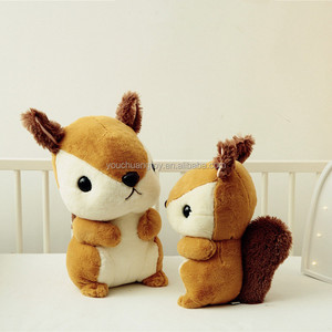 custom christmas animated electronic talking squirrel plush toy