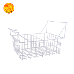 Offer metal display wire storage basket with handle