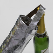 wholesale washable recycled brown paper bag reusable wine bottle paper bag