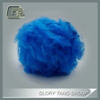 virgin fluorescent dope dyed polyester staple fibre for security paper