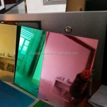 Jin Yao Group Hot sale customized color mirror,2mm green mirror <strong>glass</strong> price