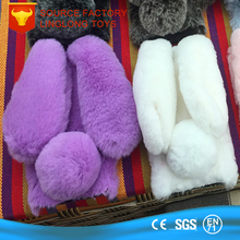 TUV Certified Factory Plush Bunny Phone Case Rabbit Ears Back Shell Plush Fur Mobile Cover for Iphone 5 6 7