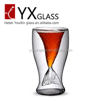 beer bottle Double Wall Glass Cup high borosilicate glass beer mug cup 350ML