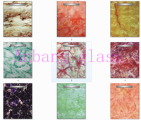 decorative glass for kitchen cabinets, marble decor art glass