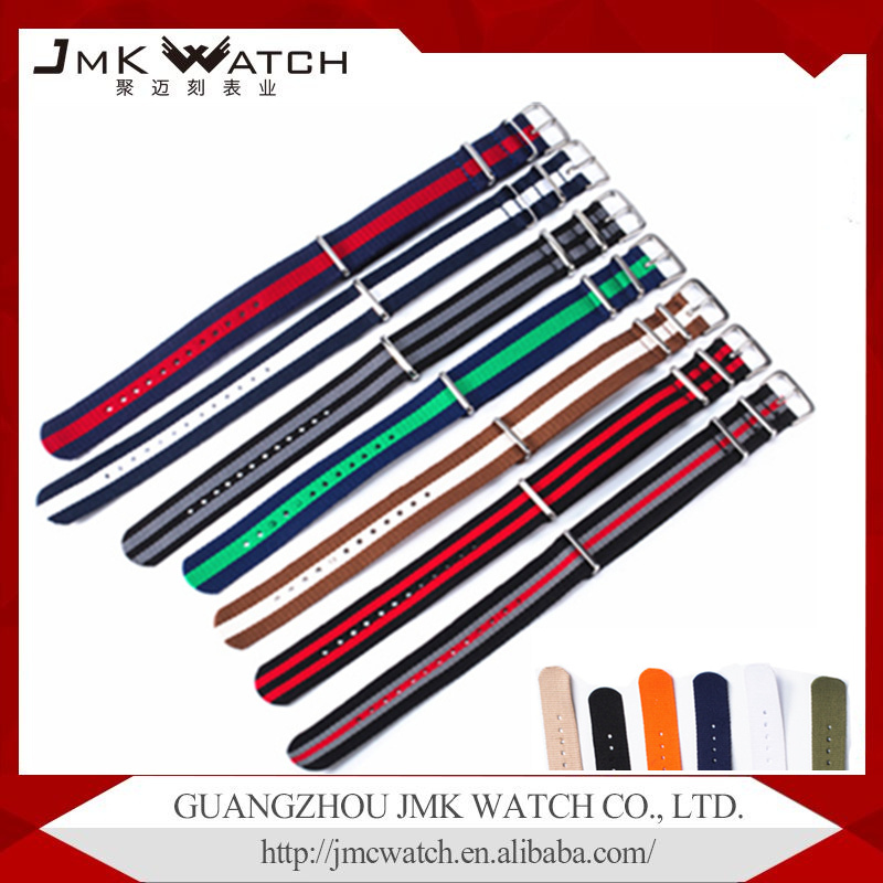 China's best-selling products Fashion style custom nylon nato watch strap nylon watch band strap with multi color