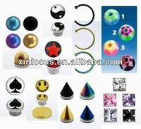 Fake Nose Ring Lip Belly Tragus Tongue Piercing Magnetic Stud Ring