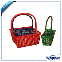 colorful bicycle willow basket