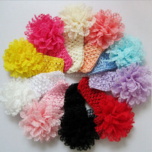 High quality fashion winter crochet elastic hair bands for girls soft textile baby headbands lots