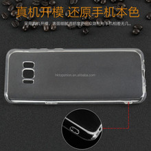 Transparent clear silicone rubber gel case for samsung galaxy s8, for samsung s8 cover tpu case